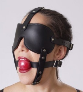 Blindfold Ball Gag Harness