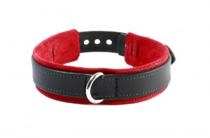 Red Leather Slave Collar