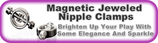 Magnetic Jeweled Nipple Clamps Ad