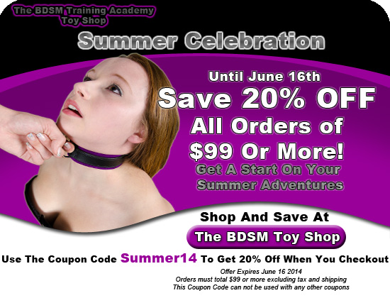 Summer BDSM Bondage Gear Discount Code