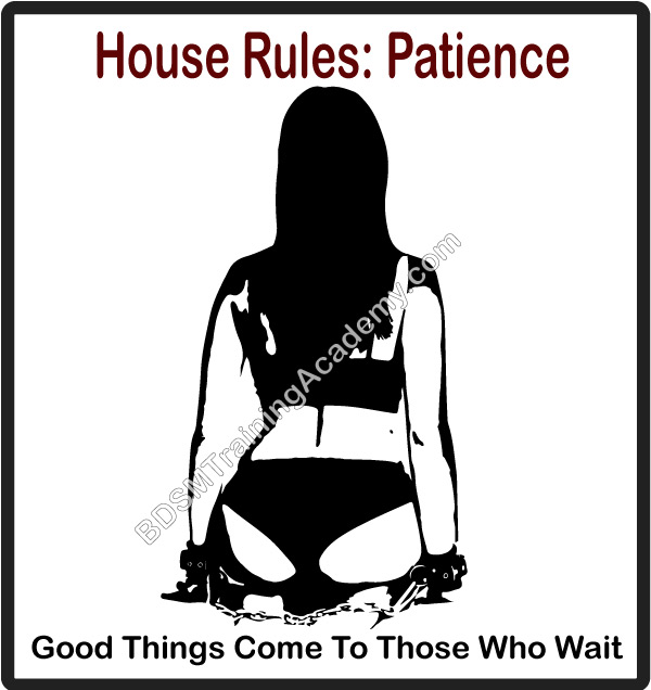 BDSM house rules patience