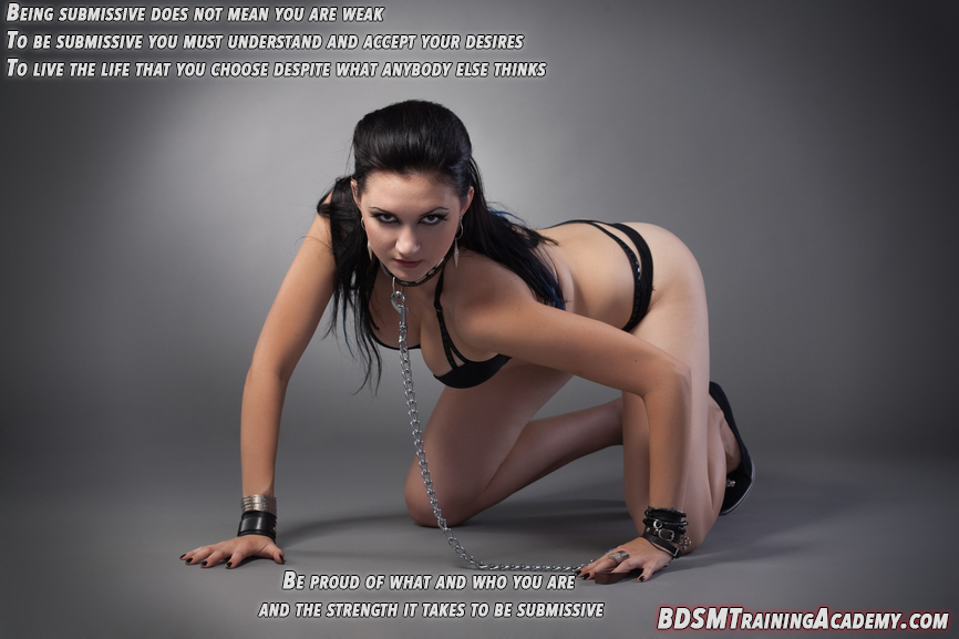 Bdsm becoming a submissive female