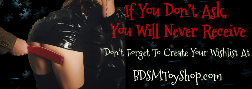 Holiday Wishlist BDSM Toy Shop