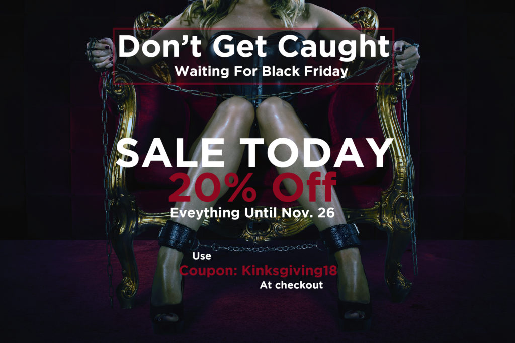 Kinksgiving sale for bdsm toys