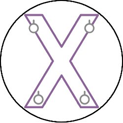 BDSM St Andrews Cross Icon